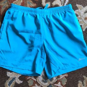 Pretty turquoise blue ASICS running shorts sz S